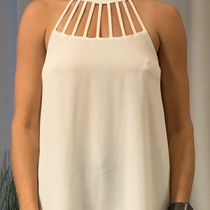 White strappy top